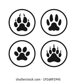 paw print icon vector design illustration