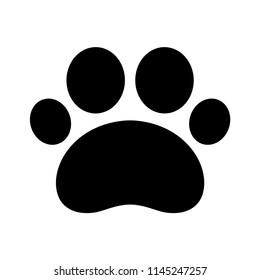 Paw Print Icon Vector Dog Cat Bear Footprint Logo Cartoon Illustration Character Clip Art Symbol