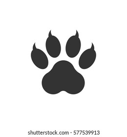 Tiger Paw Print Images Stock Photos Vectors Shutterstock 1292x1476 19 claw vector tiger huge freebie! https www shutterstock com image vector paw print icon vector illustration isolated 577539913