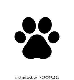 Paw print icon,vector illustration. Flat design style. vector paw print icon illustration isolated on White background, paw print icon Eps10. paw print icons graphic design vector symbols.