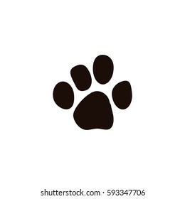 Paw print vector icon illustration