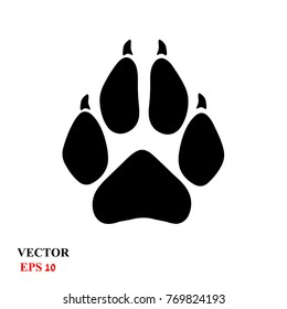 Paw Prints. Dog or cat paw print flat icon