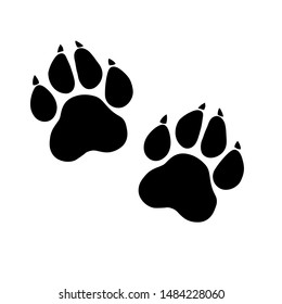 Paw Prints. Logo. Vector Illustration. Isolated vector Illustration.