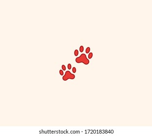 Paw Prints vector isolated flat illustration. Paw Prints icon illustration