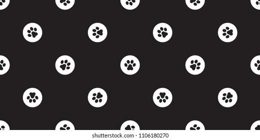 paw seamless pattern dog paw vector french bulldog bone polka dot isolated wallpaper background