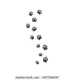Paw template vector illustration design