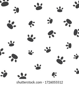 paw vector background  illustration design template