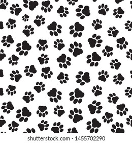 Paw vector foot trail print of dog and cat.  for t-shirts, backgrounds, patterns, websites, design, greeting cards, child prints and etc. Vector