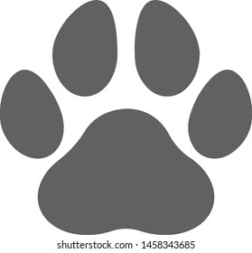 Paw vector foot trail print of dog and cat or bear. Websites, design, greeting cards, child prints and etc. Vector