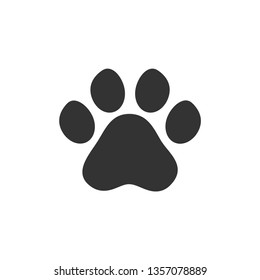 Paw vector icon on white background
