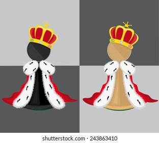Pawn with crown