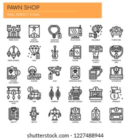 Pawn Shop , Thin Line and Pixel Perfect Icons