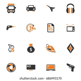 Pawnshop vector icons for user interface design