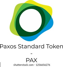 Paxos Standard Token (PAX) cryptocurrency vector illustration