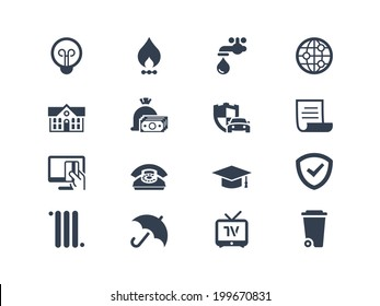 Pay bills icons