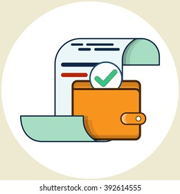 Pay the Bills. Vector Icon