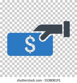 Pay icon. Vector pictograph style is a flat symbol, color, chess transparent background. Designed for software and web interface toolbars and menus.