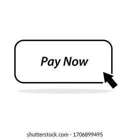 Pay Now button, Web Button, Isolated On White Background