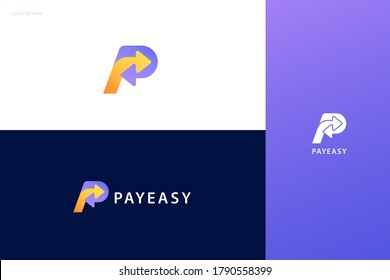 Pay now logo set with double arrow design, concept of crypto wallet, money transfer, and fast mobile payment