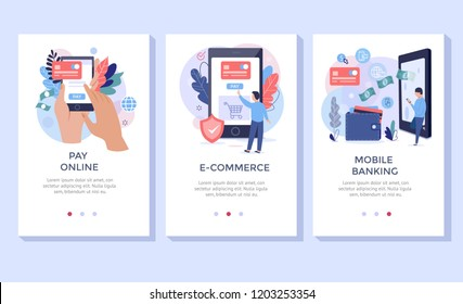 Pay online concept illustration set, perfect for banner, mobile app, landing page