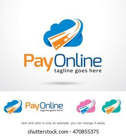 Pay Online Logo Template Design Vector