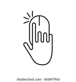Pay per click vector line logo. Minimal design