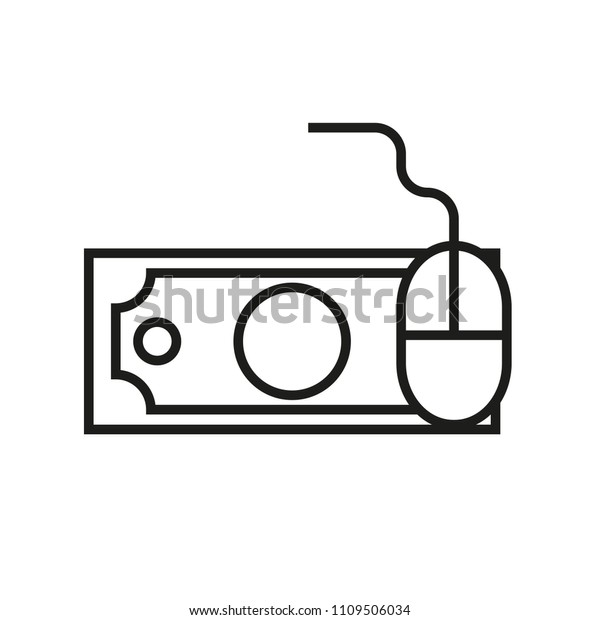 Pay Per Click Vector Line Icon Stock Vector (Royalty Free