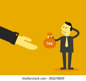 Pay tax concept