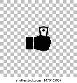 Payment. Black flat icon on a transparent background. Pictogram for your project