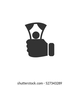 Payment icon flat. Illustration isolated vector sign symbol