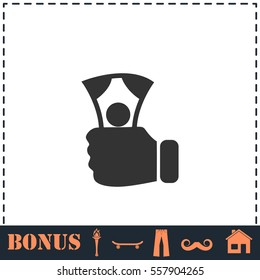 Payment icon flat. Simple vector symbol and bonus icon