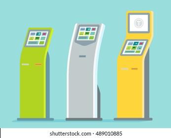 Payment kiosk. Vector illustration