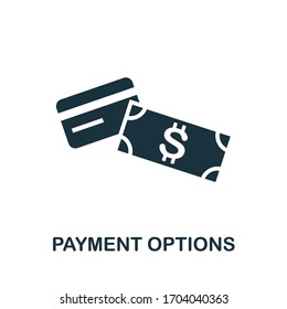 Payment Options icon. Simple illustration from e-commerce collection. Creative Payment Options icon for web design, templates, infographics and more