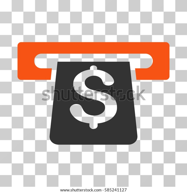 Payment Terminal icon. Vector illustration style is flat iconic bicolor symbol, orange and gray colors, transparent background. Designed for web and software interfaces.