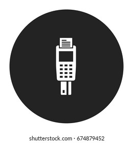 payment terminal icon vector isolated