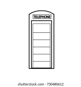 payphone building icon outline