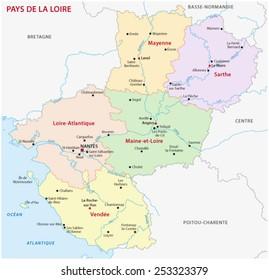 pays de la loire administrative map