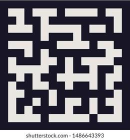 Imágenes, fotos de stock y vectores sobre Labyrinth Pixel