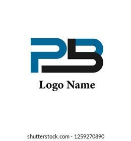 PB Blue Logo Monogram Vector Design Modern