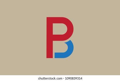 PB BP Letter Initial Logo Design Template