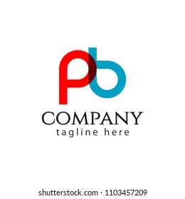 PB Company Logo Letter Vector Template Design Illustration