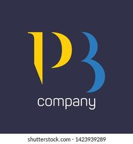 PB elegant logo. Company logo. Monogram logo letters RB.