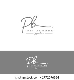 PB Initial letter handwriting and signature logo.