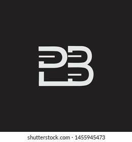 PB initial logo Capital Letters black background