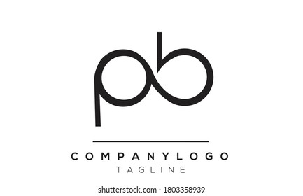 PB initials monogram letter text alphabet logo design