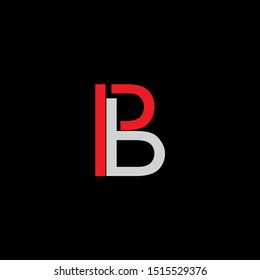 PB Letter monogram with abstrac concept style design