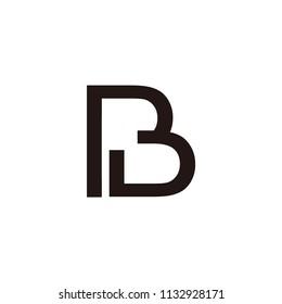 pb letter vector logo