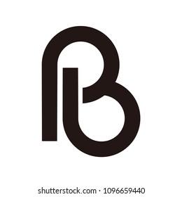 pb letter vector logo. b letter vector logo