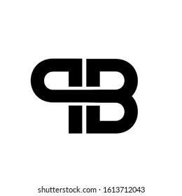 pb logo design simple modern template