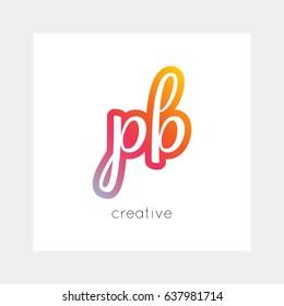 PB logo, vector. Useful as branding, app icon, alphabet combination, clip-art.